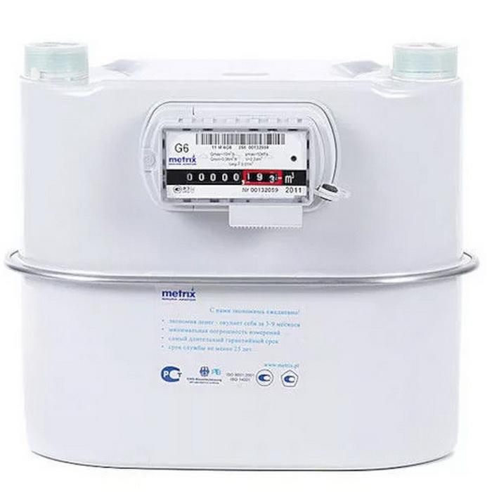 Счетчик газа G6 Metrix (130 мм)