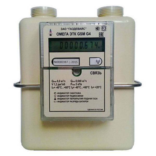 Счетчик газа Омега ЭТК GSM G4 левый / правый