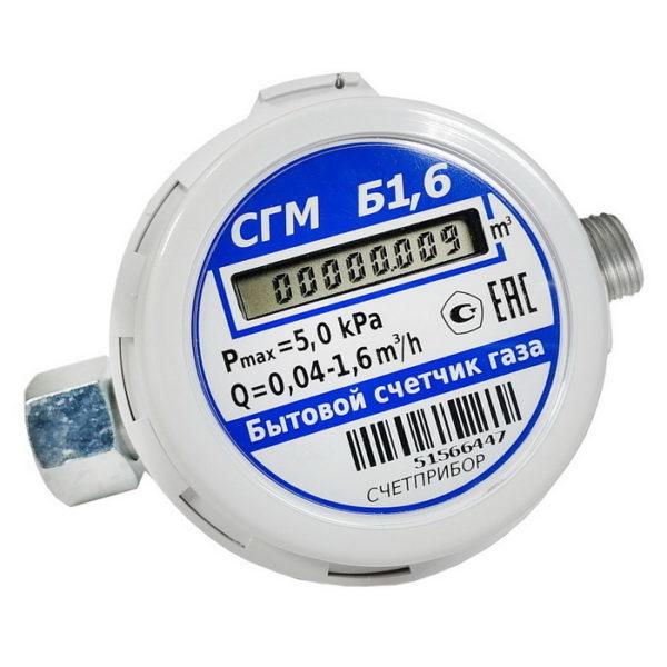 Счетчик газа СГМБ-1,6