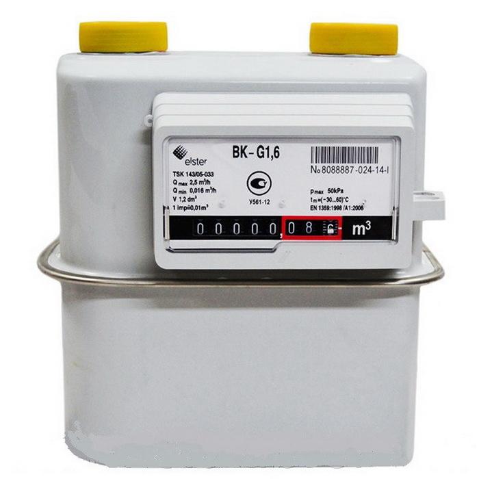 Счетчик газа ВК G1,6 левый / правый