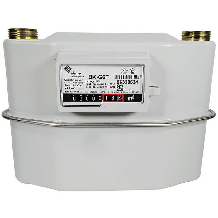 Счетчик газа ВК G10Т с механичяеским термокор.