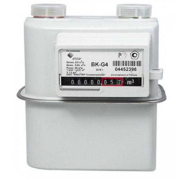 Счетчик газа ВК G4  левый / правый